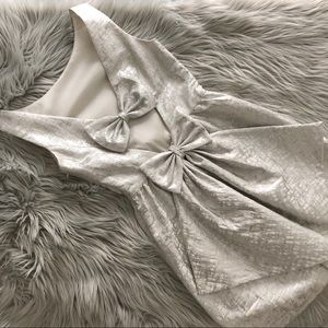 ERIN by Erin Fetherston Dresses - ERIN Erin Fetherston Open Bow Back Metallic Dress